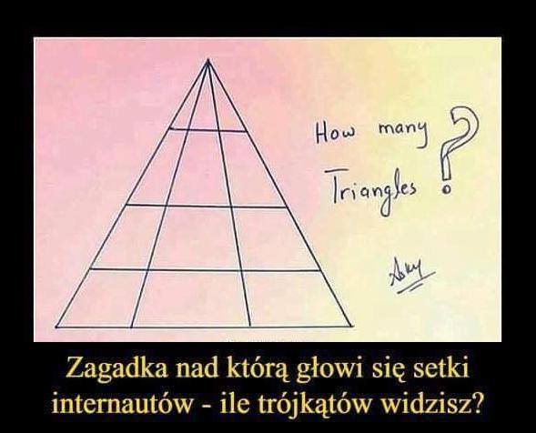 1475Ile tu jest trójkątów?