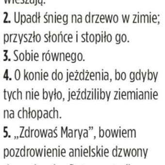 Najstarsze zagadki polskie
