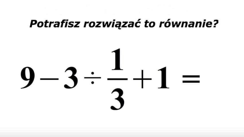1666Czy potrafisz rozwiązać to równanie?